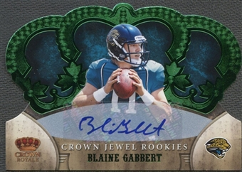 2011 Crown Royale #25 Blaine Gabbert Crown Jewel Rookie Emerald Auto #3/5