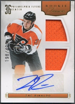 2011/12 Panini Rookie Anthology #133 Zac Rinaldo Rookie Jersey Auto #198/499