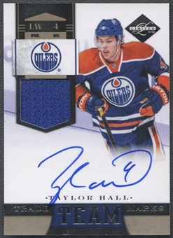 2011/12 Limited #1 Taylor Hall Team Trademarks Materials Signatures Jersey Auto #22/49