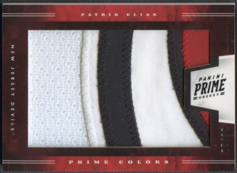 2011/12 Panini Prime #47 Patrik Elias Prime Colors Horizontal Patch #08/20