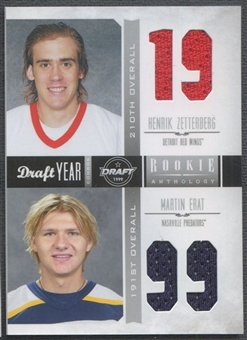 2011/12 Panini Rookie Anthology #4 Henrik Zetterberg & Martin Erat Draft Year Combo Jersey