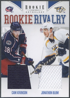 2011/12 Panini Rookie Anthology #18 Cam Atkinson & Jonathon Blum Rookie Rivalry Dual Jersey