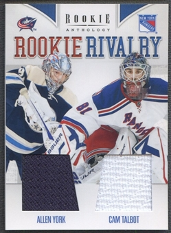 2011/12 Panini Rookie Anthology #41 Allen York & Cam Talbot Rookie Rivalry Dual Jersey