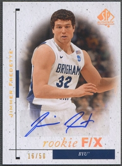 2011/12 SP Authentic #87 Jimmer Fredette FX Rookie Auto #16/50