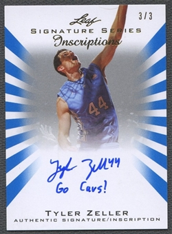 2012/13 Leaf Signature #TZ2 Tyler Zeller Inscriptions Blue Auto #3/3