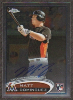 2012 Topps Chrome Rookie Autographs #159 Matt Dominguez Autograph