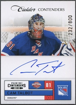 2011/12 Panini Contenders #234 Cam Talbot Rookie Auto /800