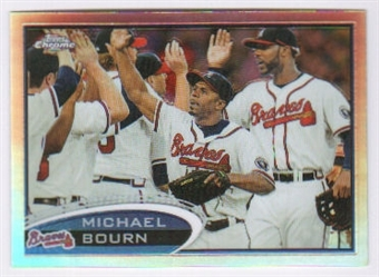2012  Topps Chrome Refractors #113 Michael Bourn