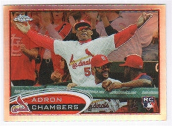 2012  Topps Chrome Refractors #153 Adron Chambers