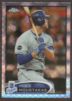 2012  Topps Chrome X-Fractors #89 Mike Moustakas