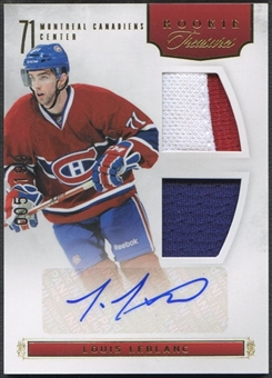 2011/12 Panini Rookie Anthology #112 Louis Leblanc Rookie Jersey Auto #005/199