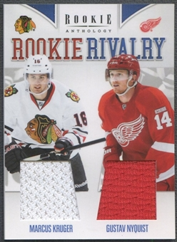 2011/12 Panini Rookie Anthology #7 Marcus Kruger & Gustav Nyquist Rookie Rivalry Dual Jersey