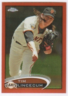 2012 Topps Chrome Orange Refractors #1 Tim Lincecum