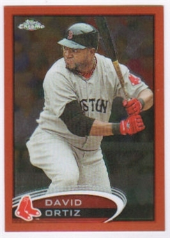2012 Topps Chrome Orange Refractors #4 David Ortiz