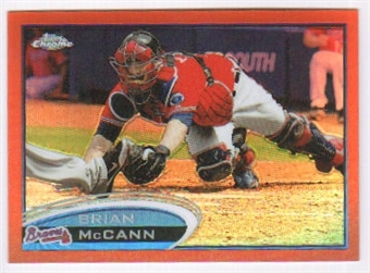 2012 Topps Chrome Orange Refractors #9 Brian McCann