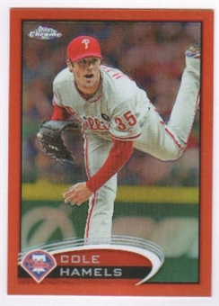 2012 Topps Chrome Orange Refractors #36 Cole Hamels