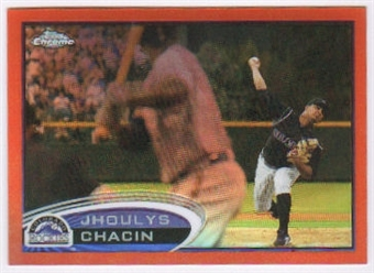 2012 Topps Chrome Orange Refractors #44 Jhoulys Chacin