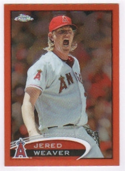 2012 Topps Chrome Orange Refractors #52 Jered Weaver