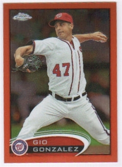 2012 Topps Chrome Orange Refractors #53 Gio Gonzalez