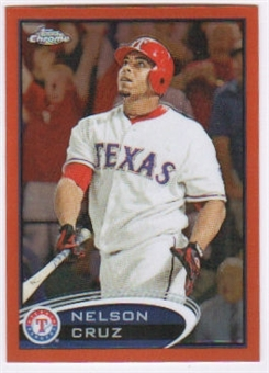 2012 Topps Chrome Orange Refractors #57 Nelson Cruz