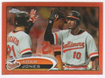 2012 Topps Chrome Orange Refractors #106 Adam Jones