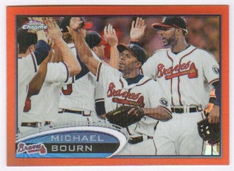 2012 Topps Chrome Orange Refractors #113 Michael Bourn