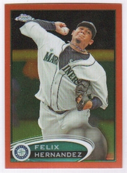 2012 Topps Chrome Orange Refractors #116 Felix Hernandez