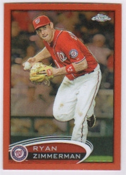2012 Topps Chrome Orange Refractors #118 Ryan Zimmerman