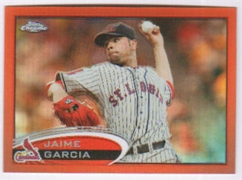 2012 Topps Chrome Orange Refractors #119 Jaime Garcia