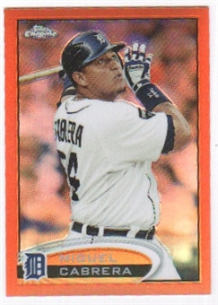 2012 Topps Chrome Orange Refractors #130 Miguel Cabrera