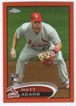 2012 Topps Chrome Orange Refractors #199 Matt Adams