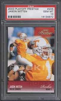2003 Playoff Prestige #205 Jason Witten Rookie PSA 10