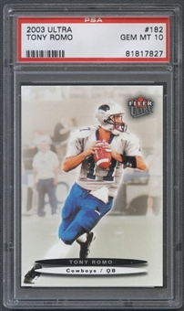 2003 Ultra #182 Tony Romo Rookie PSA 10