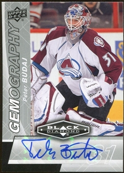 2010/11 Upper Deck Black Diamond Gemography #GBU Peter Budaj Autograph