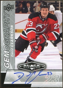 2010/11 Upper Deck Black Diamond Gemography #GCL David Clarkson Autograph