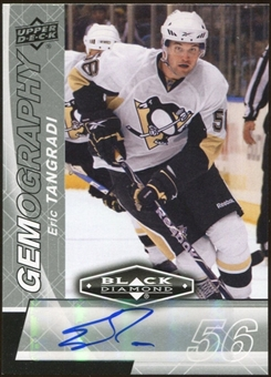 2010/11 Upper Deck Black Diamond Gemography #GET Eric Tangradi Autograph