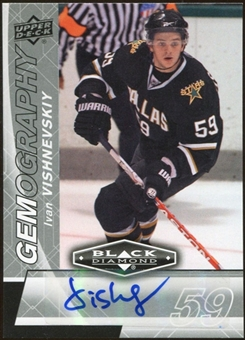2010/11 Upper Deck Black Diamond Gemography #GIV Ivan Vishnevskiy Autograph