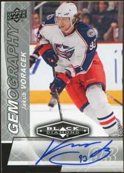2010/11 Upper Deck Black Diamond Gemography #GJV Jakub Voracek Autograph