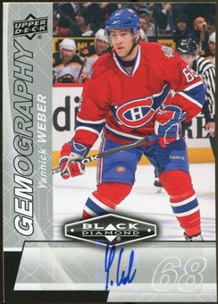 2010/11 Upper Deck Black Diamond Gemography #GYW Yannick Weber Autograph