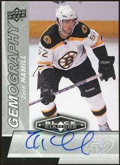 2010/11 Upper Deck Black Diamond Gemography #GZH Zach Hamill Autograph