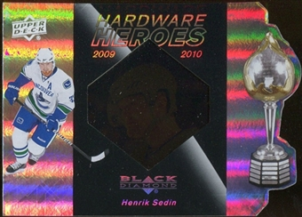 2010/11 Upper Deck Black Diamond Hardware Heroes #HHHS Henrik Sedin /100