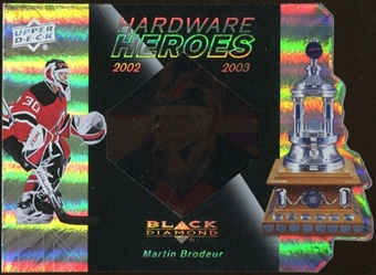 2010/11 Upper Deck Black Diamond Hardware Heroes #HHMB Martin Brodeur /100