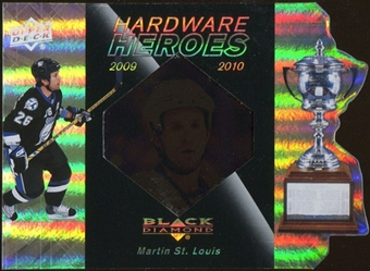2010/11 Upper Deck Black Diamond Hardware Heroes #HHMS Martin St. Louis /100