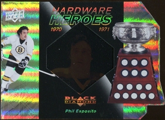 2010/11 Upper Deck Black Diamond Hardware Heroes #HHPE Phil Esposito /100