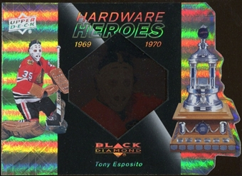 2010/11 Upper Deck Black Diamond Hardware Heroes #HHTE Tony Esposito /100