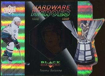2010/11 Upper Deck Black Diamond Hardware Heroes #HHTS Teemu Selanne /100