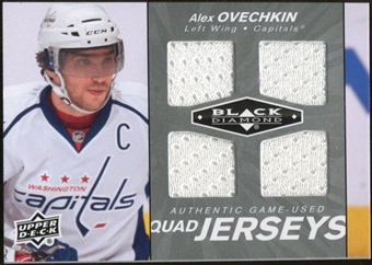 2010/11 Upper Deck Black Diamond Jerseys Quad #QJAO Alexander Ovechkin