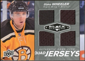 2010/11 Upper Deck Black Diamond Jerseys Quad #QJBW Blake Wheeler