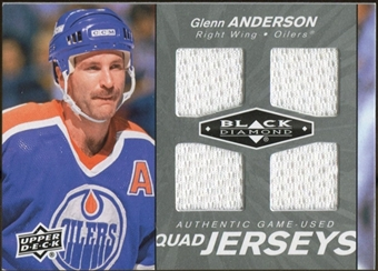 2010/11 Upper Deck Black Diamond Jerseys Quad #QJGA Glenn Anderson