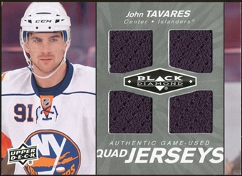 2010/11 Upper Deck Black Diamond Jerseys Quad #QJJT John Tavares